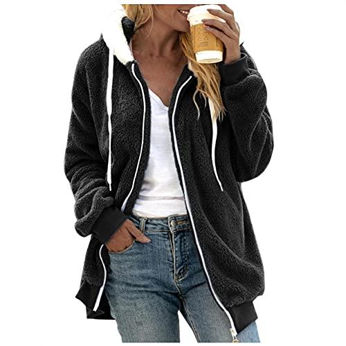 KAMEIMEI Warme Mantel Wintermantel Winter Jacken Für Damen Pocket Hooded Pullover Pullovershirt Warm Artificial Wolle Coat Outwear Jacke Trenchcoat Parka Windbreaker
