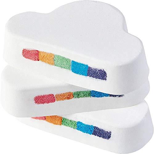 3 StüCk NatüRliche Regenbogenbad Salzkugel, Regenbogenwolken Verwandeln Sich In Badekugel, Geeignet FüR Schaumbad Und Hydrotherapie-Bad