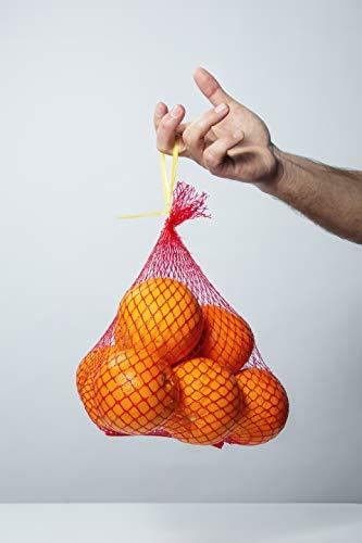 250pcs Sacchetti in Rete in Polipropilene per Frutta, Verdura e Alimenti. Dimensioni 35x12x25cm. Portata 4/5kg. Made in Italy. (Rosso)