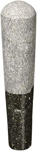 TastePadThai Großer Granitstößel 20 cm, perfekte Größe für Mörser Größe 7
