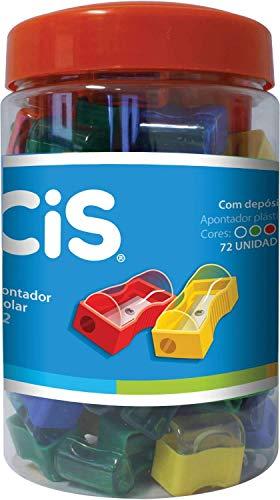 Apontador Escolar com Depósito, CiS, 240.6702, Pote com 72 Unidades
