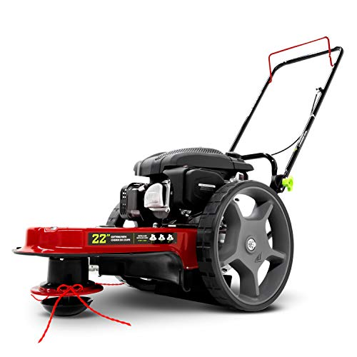 EARTHQUAKE 28463 M205 150cc 4-Cycle Viper Engine, 5 Year Warranty Walk Behind String Mower, Red/Black