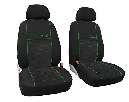 POK-TER-TUNING Vordersitzbezüge 1+1, Sitzbezüge passend für NV200 - Designe Trend line. Farbe grün (In 6 Farben bei Anderen Angeboten erhältlich)