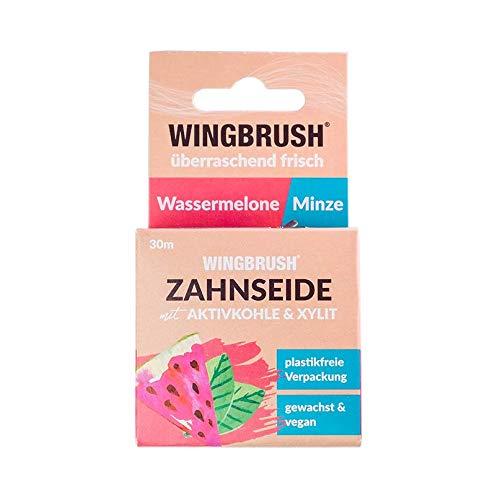 WINGBRUSH® umweltfreundliche Zahnseide Wassermelone Minze | Bekannt aus