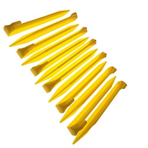MUDOR - Estacas de plástico para tienda de campaña de 9 pulgadas, 12 piezas resistentes y duraderas, para campings al aire libre y jardín de césped resistente, accesorios adecuados para arena, playa y maderas
