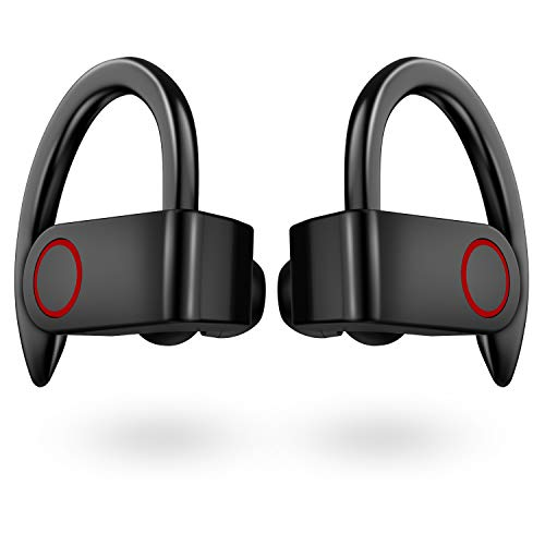 Wireless Earbuds IPX8 Waterproof, [Upgraded] Aznze Bluetooth 5.0 Sport Headphones Stereo Bass Sound TWS Ear Buds Over Ear 10 Hours Playtime Wireless Earphones with Mic & Charging Case for Running/Work