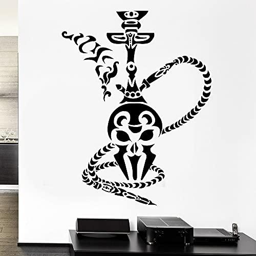 Jsnzff Etiqueta de la Pared de la cachimba Hookah Ahumado árabe Pared calcomanía Tienda de Tabaco Vinilo decoración de la Sala de Estar del hogar 74x57cm