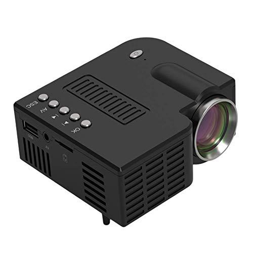 Afittel0 Mini Proyector, Micro Teléfono Móvil Vídeo Proyector, Portátil Cine en Casa Película Proyector, 20,000 Horas, Soporte HD 1080P, HDMI, USB, VGA, AV, TF, TV Adhesivo y Smartphone