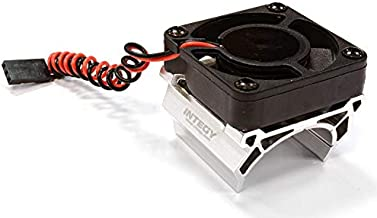 Integy RC Model Hop-ups C25861SILVER High Speed Cooling Fan+Heatsink Mount for 28mm O.D. Motor