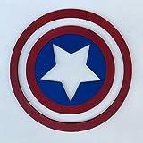 Pekiedo Cuadro Marvel dibujos animados de madera | Cuadro habitación infantil | Capitán América Hulk Thor Spider Man Deadpool | Tamaño 30 x 30 cm | 100 % Made in Italy (Capitan America)