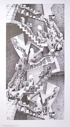 Germanposters MC Escher Póster De Impresión Escalera de