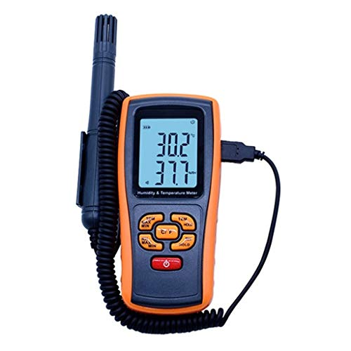 Mobiele telefoon digitale temperatuur-vochtigheidsmeter met beweegbare hoge precisie, met groot lcd-scherm met lage batterij-herinnering voor thuis en slaapkamer