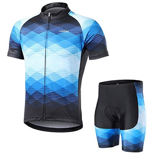 Lixada Radtrikot Herren Kurzarm Fahrrad Bekleidung Männer Atmungsaktiv Kurzarmtrikot Fahrradtrikot Farbverlaufsfarbe