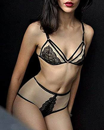 8f4383c94 ♥BUY 2 GET 3♥ Harness Lace Lingerie Women Wedding Lingerie Strappy Bralette  Garter Belt