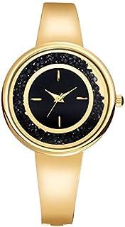 Xieifuxixxxnssb men's wrist watches Colorful Rhinestone Women's Watches Fashion Rose Gold Blue Silver Steel Bracelet Watch...