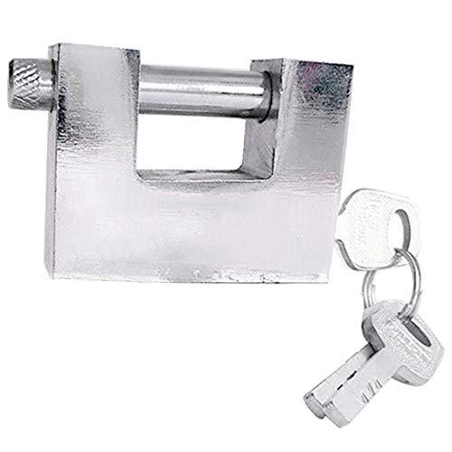 LbojailiAi 1/2/4 Piezas Cerradura antirrobo de la puerta del gabinete, candado de viga, acero inoxidable, impermeable, resistencia al óxido, 40/50 / 60mm - Plata [1 Piezas] 50mm