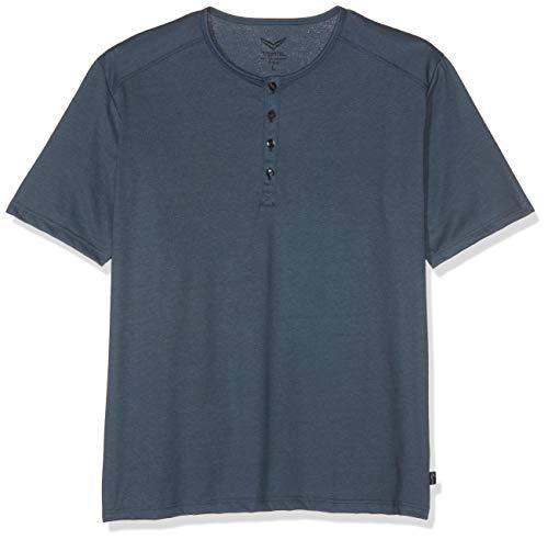 Trigema Herren 637204 T-Shirt, Blau (Jeans-Melange 643), XXX-Large (Herstellergröße: XXXL)