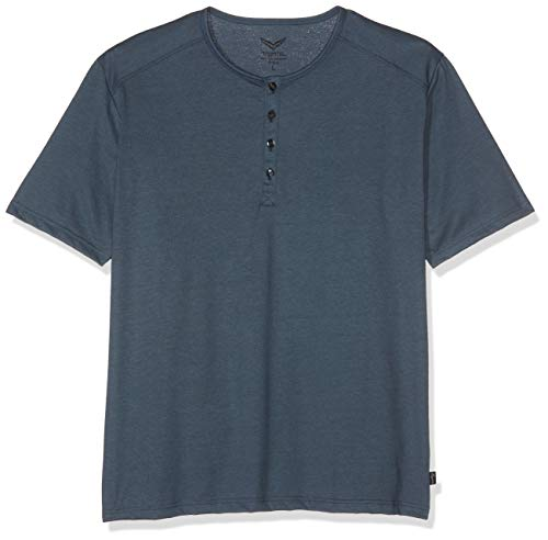 Trigema Herren 637204 Regular Fit T-Shirt, Blau (Jeans-Melange 643), X-Large (Herstellungsgröße: XL)