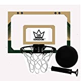 Kingdom GB Hyperdunk Portable Over The Door Mini Basketball Hoop Set With Ball & Pump (Green Beige)