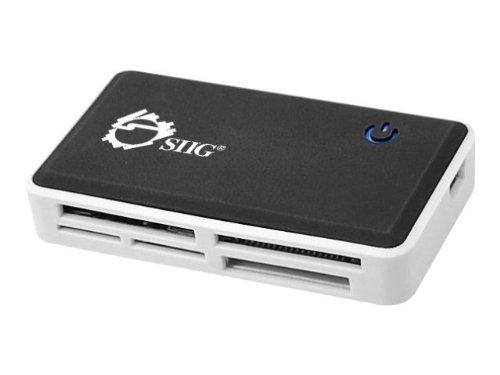 SIIG USB 2.0 Multi-Slot Card Reader/Writer (JU-MR0C12-S1),Black/silver