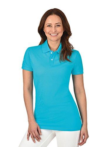 TRIGEMA Inh. W. Grupp e. K. Trigema Damen Poloshirt, Blau (Azur 051), 52 (Herstellergröße: XXL)