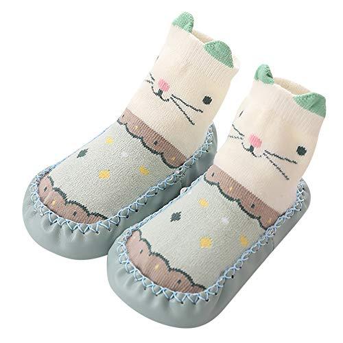 Vovotrade Cartoon pasgeboren babyschoenen meisjes jongens anti-slip sokken slipper laarzen baby slipschoenen babysokken