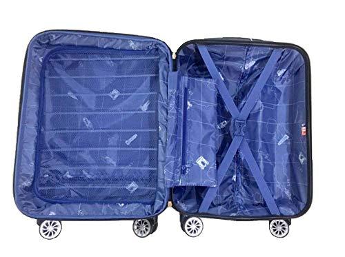 LYS - Valise Cabine Extensible Trolley 55x37x20 cm Plus 7 cm souflet Ultra léger 4 Roues doublées...