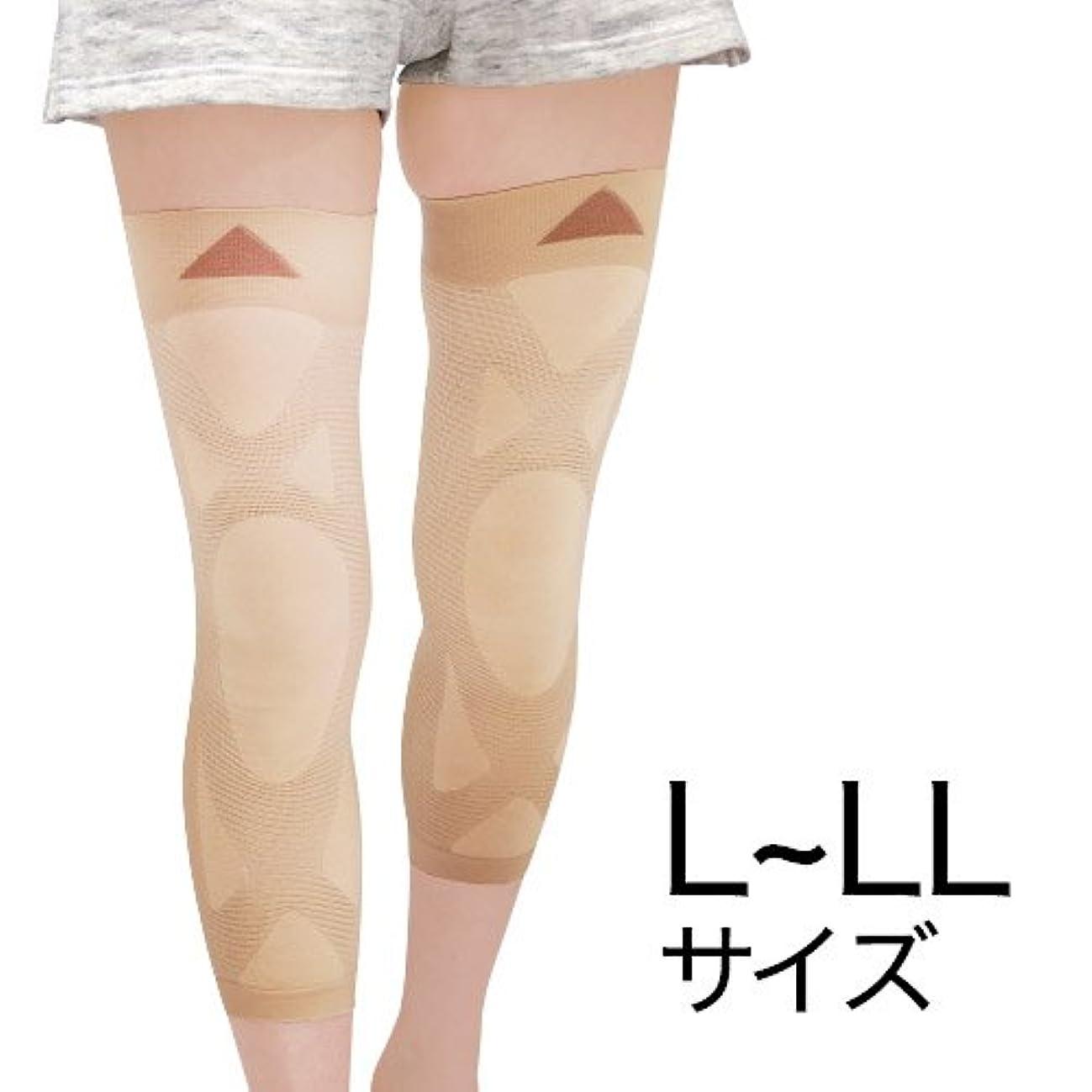 沈黙エンコミウム宣言するナチュラルガーデン 膝楽サポーター L~LL(左右共通2枚組)