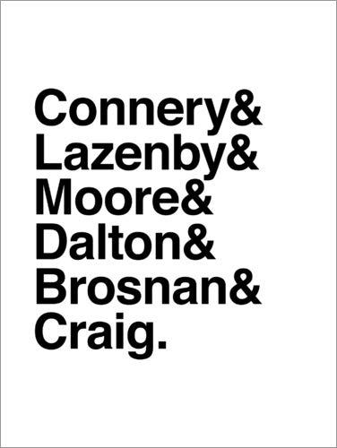 Poster 30 x 40 cm: James Bond - Actor di Michael Tarassow - Stampa Artistica Professionale, Nuovo Poster Artistico