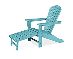 CASA BRUNO South Beach Ultimate Adirondack Chair with unique hideaway Ottoman