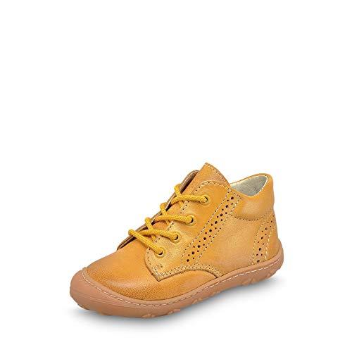RICOSTA 1221700 761 Mädchen Lauflernbootie aus Glattleder mit Lederausstattung, Groesse 22, gelb