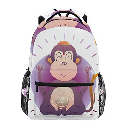 Mochila Escolar Buddha Monkey para niños, niñas, niños, Bolsa de Viaje, Mochila