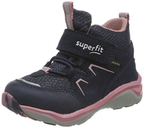 Superfit M dchen Sport5 Sneaker, Blau Rosa 8010, 33 EU Weit