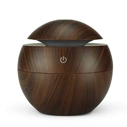 YSNMM Nachtlampje USB Aroma luchtbevochtiger etherische olie diffuser houtnerf ultrasone cool mistmaker