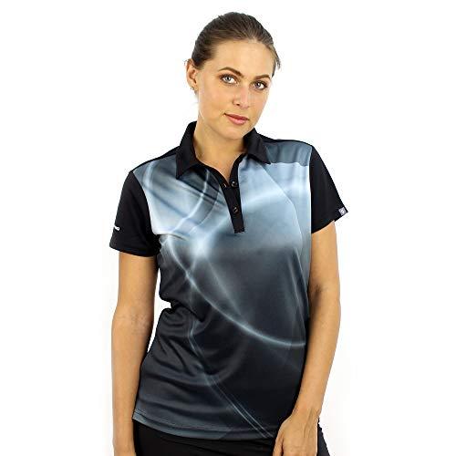 SAVALINO Women's Bowling Shirts – Professional Polo Shirt XL Black