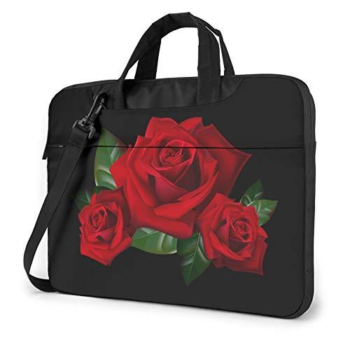 Gothic Rose Unisex Laptop Shoulder Bag Messenger Case for Computer Briefcase Carrying Sleeve