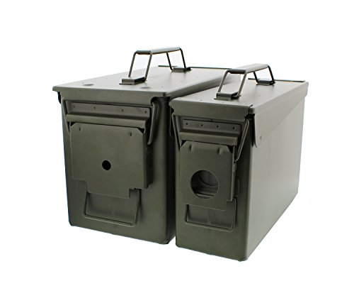 Save %13 Now! Redneck Convent 30 and 50 Cal Metal Ammo Can 2-Pack – Military Army Solid Steel Holder Box Set for Long-Term Shotgun Rifle Ammo Storage