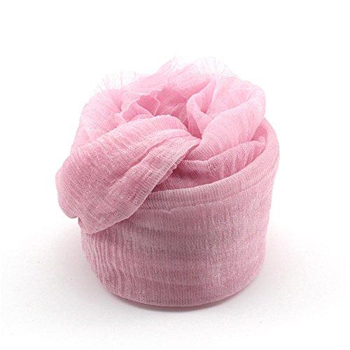 DDU Nouveau Multi-Couleur écharpe Doux élégant pour Les Filles Femmes(Rose)