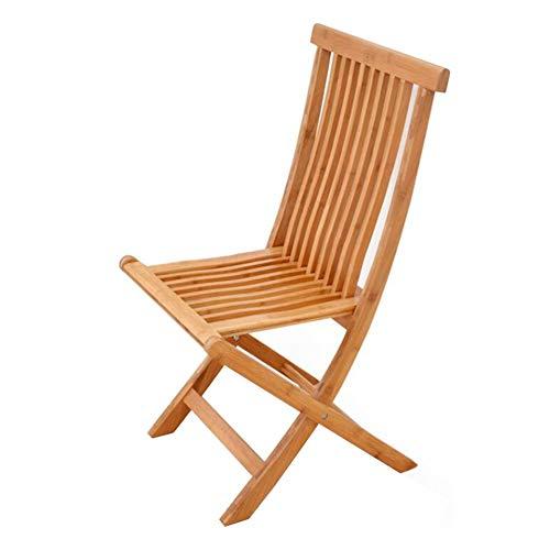 Dall Chaises Pliantes À Usages Multiples Cadre en Bambou Pli Portable Gain De Place Banc Extérieur Bois Couleur (Taille : 90cm)