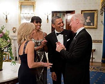 bucraft President Barack Obama & Michelle w Joe & Jill Biden 2013-8X10 Photo  CC-090