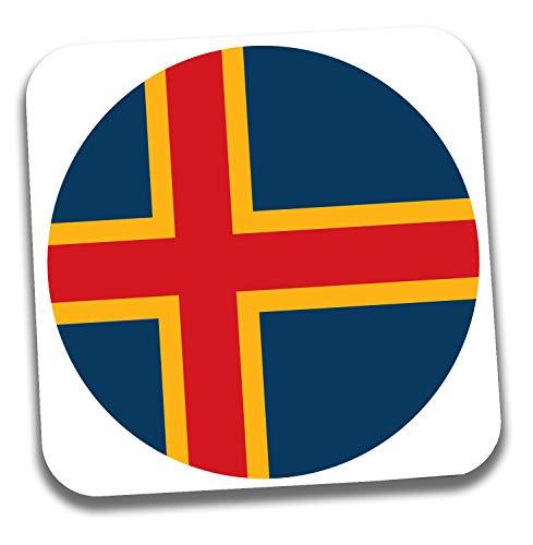 Getränke-Untersetzer mit Aland Islands Flagge – Geschenk – Geburtstag – Weihnachten – Strumpffüller – Secret Santa