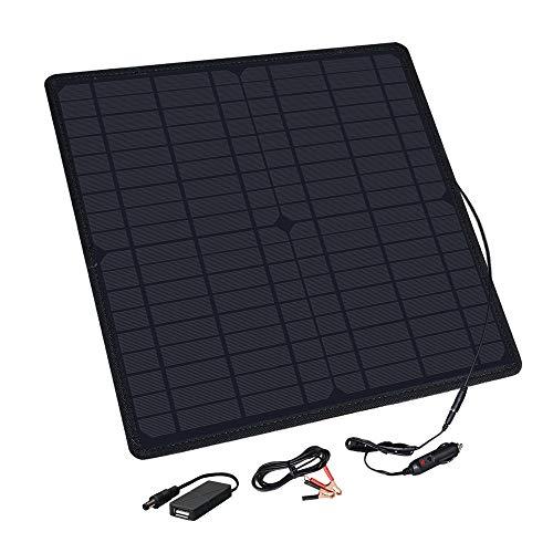 YUANFENGPOWER Car Power Solar Ladegerät 20W 18V Solarpanel Monokristallines tragbares Solarmodul für 12V Batterie, Motorrad, Traktor, Boot, Wohnmobil