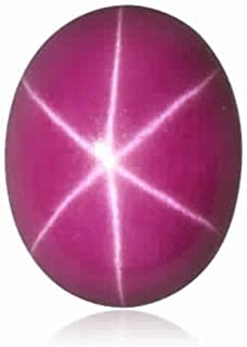 3.00-4.60 Cts of 10x8 mm Oval Cabochon Synthetic German Lab Created Ruby (1 pc) Loose Gemstone
