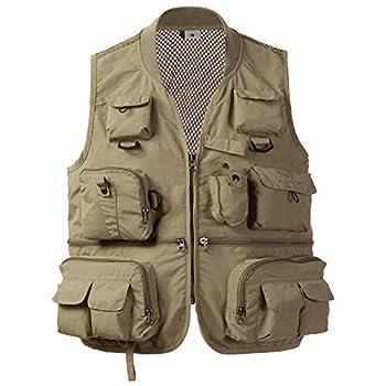 BASSDASH Versatile Men s Women s Fishing Photography Vest with Mesh Back 4 Sizes