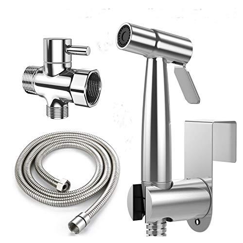 Bidet-Toilettensprüher aus Edelstahl, für Badezimmer, persönliche Hygiene, Bidet-Sprayer-Set, Babytuchwindel, Duschsprüher für Haustiere, weibliche Hygiene