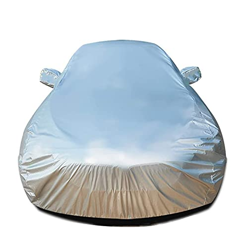 Funda Coche Exterior Compatible con Skoda Karoq Kamiq Kodiaq Cubiertas de Coche Impermeable Paño Oxford Anti-viento Respirable Resistente Rayones Lona de Coche ( Color : Silver , Size : Kodiaq )