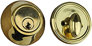 Deadbolt, 2 inch Backset, Low Profile - Polished Brass