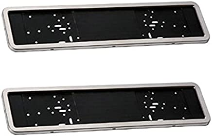 2X CHROME NUMBER PLATE HOLDER SURROUNDS FOR SUBARU ALL MODELS WITH UK SPEC PLAT