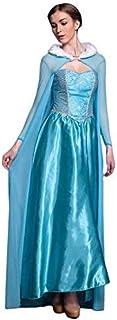 LSERVER Disfraz de Halloween para Mujer Traje de Cosplay para Fiestas Carnaval Cosplay, Elsa, Talla única