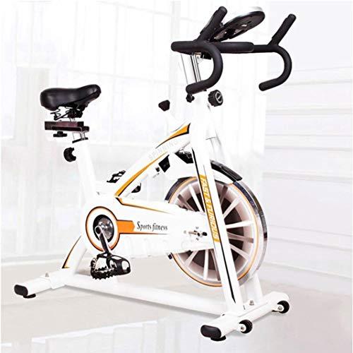 min min Trainingsrad, behobenes Innenraumfahrrad mit Telefonhalter/LCD-Anzeige/Herzfrequenzmonitor, gürtelgetriebenes Schwungrad-Spinnrad, Heimtraining, Aerobic-Übungen